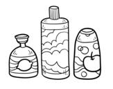 Disegno di 3 saponi da bagno da colorare