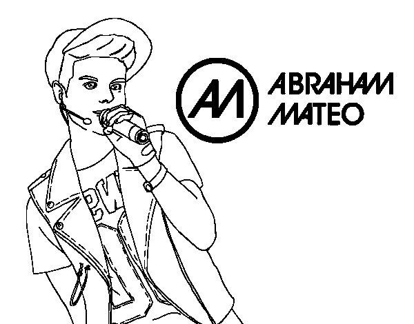 Disegno di Abraham Mateo cantando da Colorare