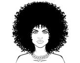 Disegno di Acconciatura afro da colorare