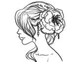 Disegno di Acconciatura da sposa  da colorare