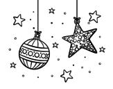 Disegno di Addobbi natalizi da colorare