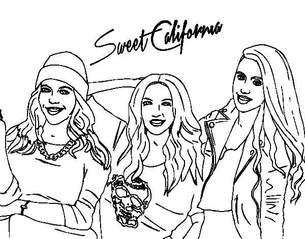 Disegno di Alba Rocio e Sonia de Sweet California da Colorare