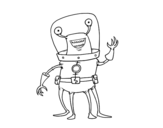 Dibujo de Alien quattro gambe