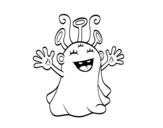Disegno di Alieno amichevole da colorare