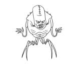 Disegno di Alieno aracnide da colorare