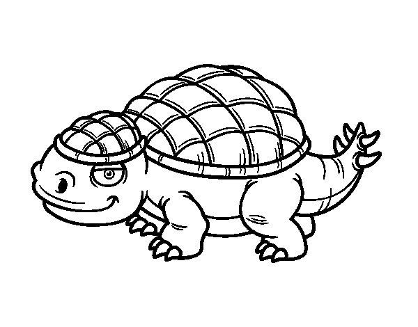Disegno di Anchilosauro da Colorare