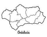 Disegno di Andalusia da colorare