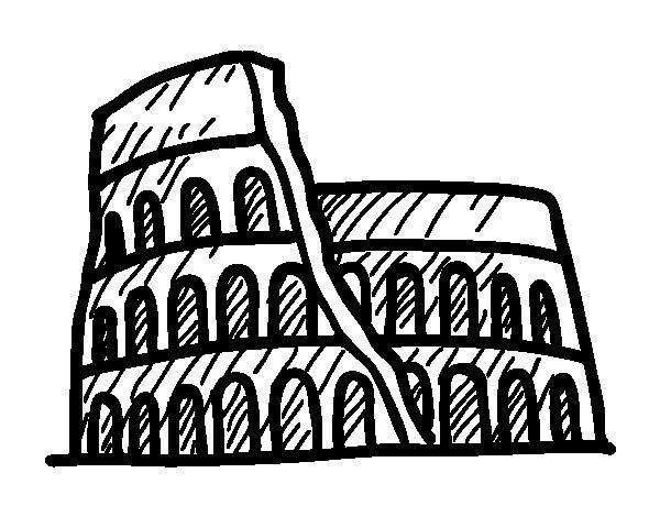 Disegno di anfiteatro romano da colorare for Disegni della roma da colorare