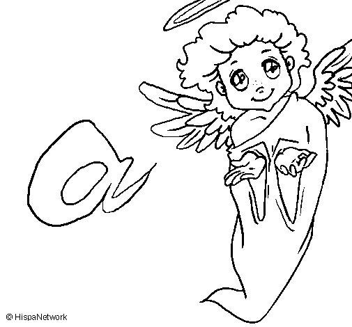 Disegno di angelo da colorare - Angelo da colorare fogli da colorare ...