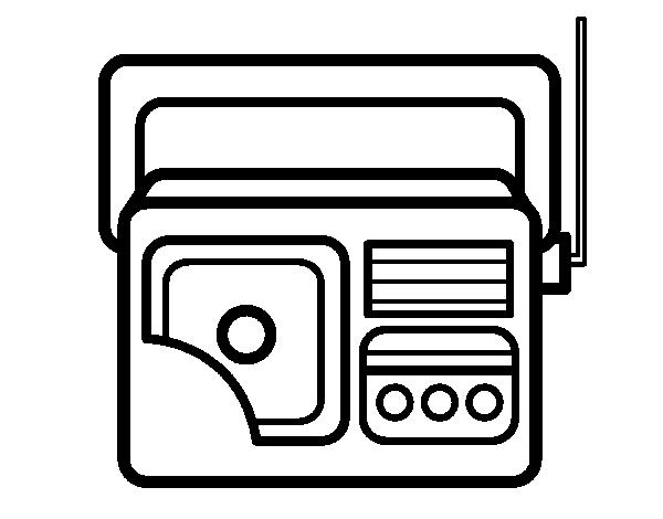 disegno di antique radio da colorare acolore