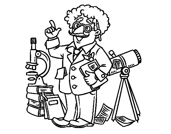 Disegno di Astronomo da Colorare