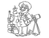Dibujo de Astronomo