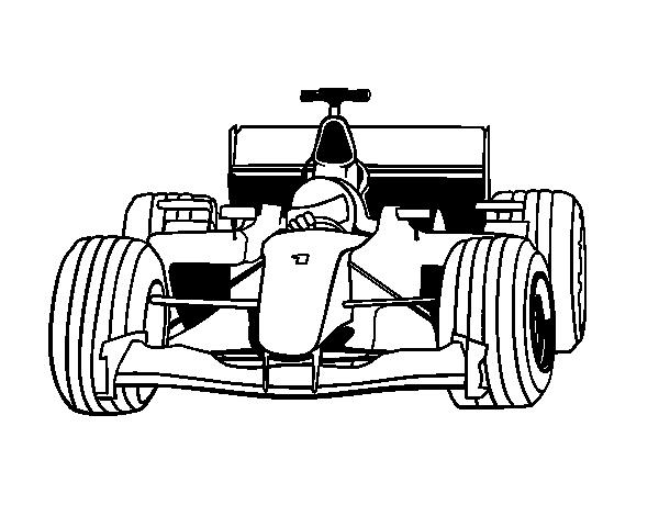 Disegno di auto di f1 da colorare for Disegni staccati di 2 box auto