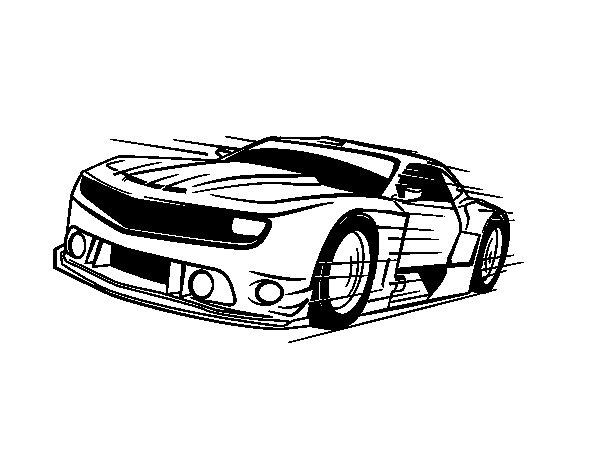 Disegno di Auto sportiva veloce da Colorare