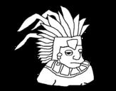 Disegno di Aztechi da colorare