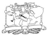Dibujo de Babbo Natale e renna di Natale