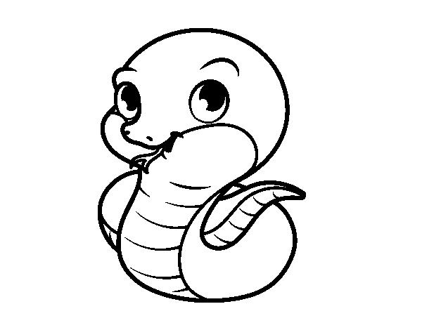 Disegno di baby serpente da colorare for Disfare la valigia in inglese