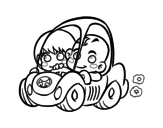 Dibujo de Bambini portando
