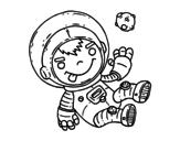 Disegno di Bambino astronauta da colorare