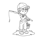 Dibujo de bambino pescatore