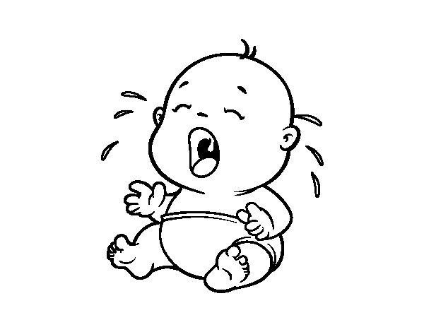 Super Disegno di Bambino piangendo 1 da Colorare - Acolore.com CB16