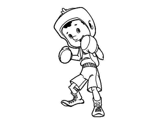 Super Disegno di Bambino pugile da Colorare - Acolore.com MO58