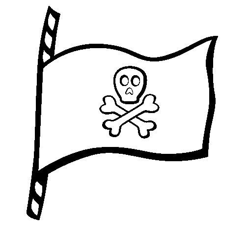 Disegno di Bandiera dei pirati da Colorare