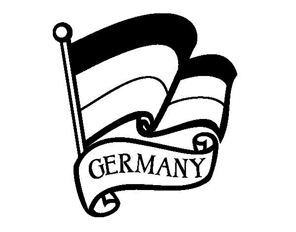 Disegno di Bandiera della Germania da Colorare