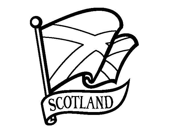 Disegno di Bandiera della Scozia da Colorare