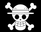 Disegno di Bandiera di capello di paglia da colorare