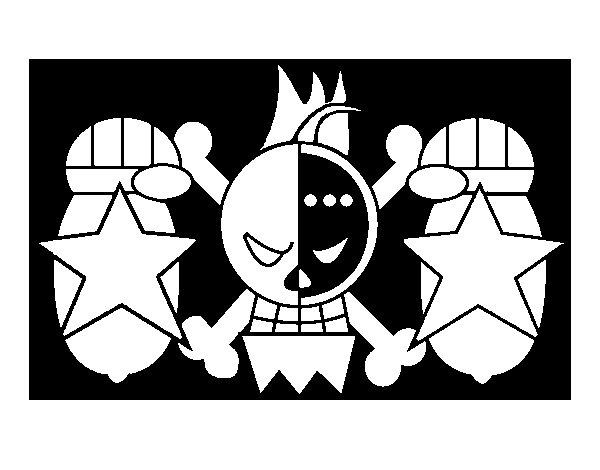 Disegno di Bandiera di Franky da Colorare