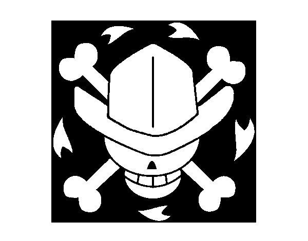 Disegno di Bandiera di Nico Robin da Colorare