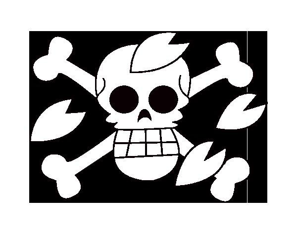 Disegno di Bandiera di Tony da Colorare