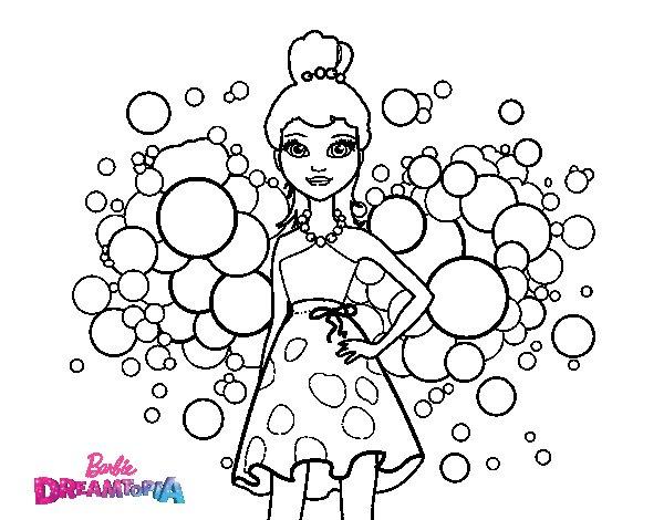 Disegno Di Rosa Con Foglie Da Colorare Acolore Com: Disegno Di Barbie Principessa Rosa Da Colorare