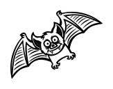 Disegno di Bat amichevole da colorare