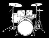 Disegno di Batteria di percussioni da colorare