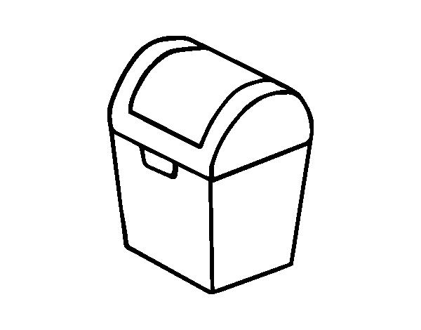 Disegno di baule da colorare for Disfare la valigia in inglese