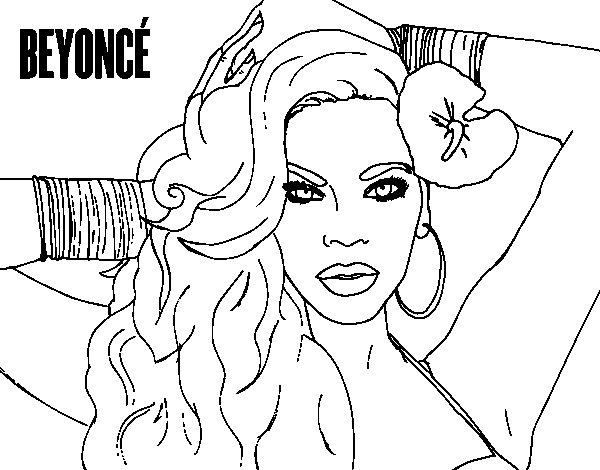 Disegno di Beyoncé da Colorare