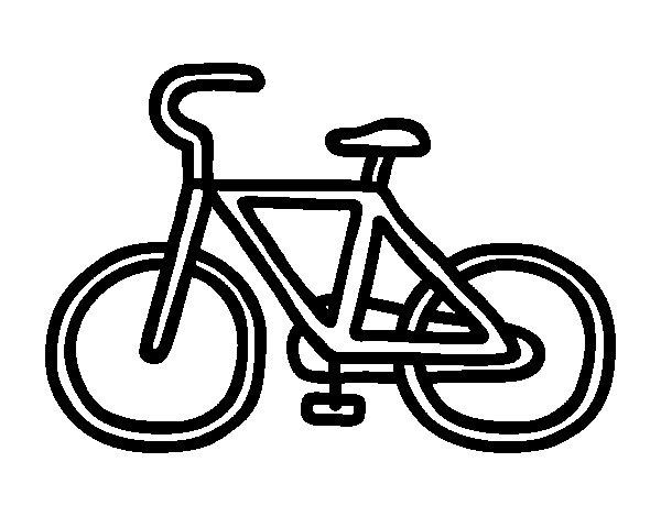 Famoso Disegno di Bicicletta di base da Colorare - Acolore.com CS72