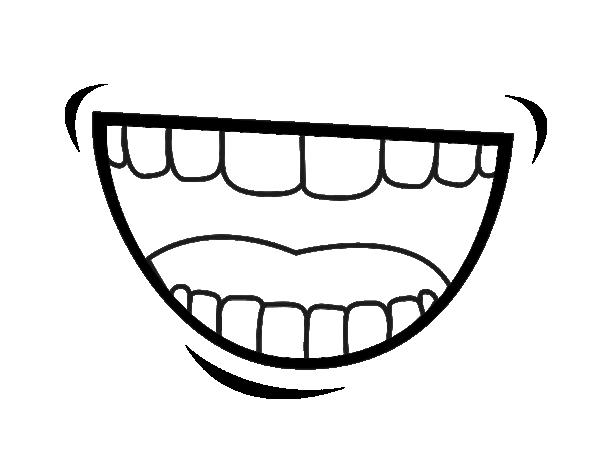 Disegno di bocca da colorare - Bouche en dessin ...