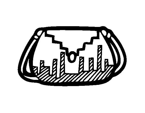 Disegno di Bolsa del progettista da Colorare