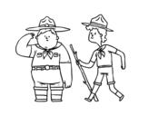 Disegno di Boy Scouts da colorare