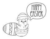 Disegno di Buona Pasqua da colorare