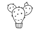 Dibujo de Cactus ficodindia