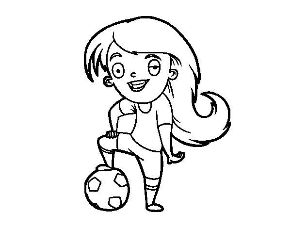 Disegno di Calcio femminile da Colorare