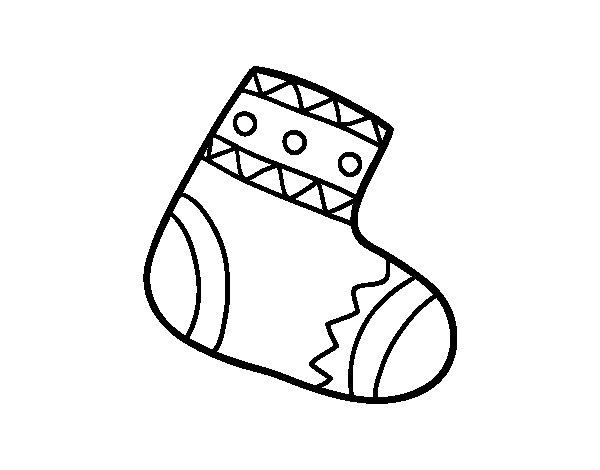Disegno di calza della befana da colorare for Befana disegno da colorare