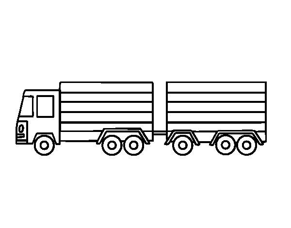 Disegno di Camion di trailer da Colorare