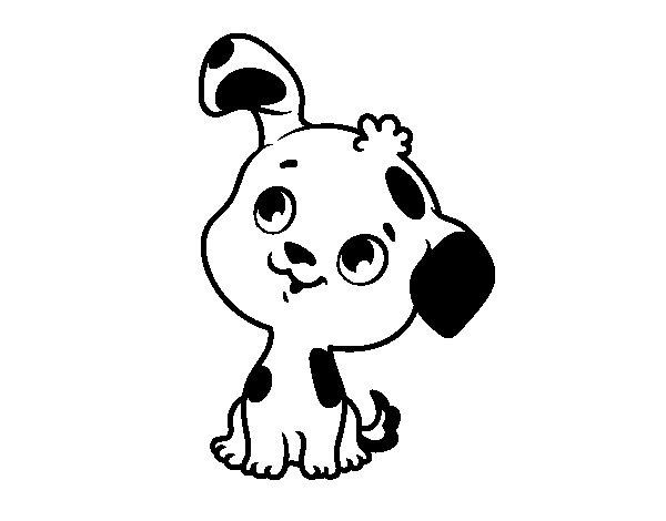 Disegno di cane cucciolo da colorare - Cucciolo da colorare stampabili ...