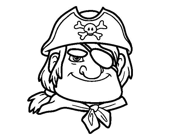 Disegno di Capo pirata da Colorare