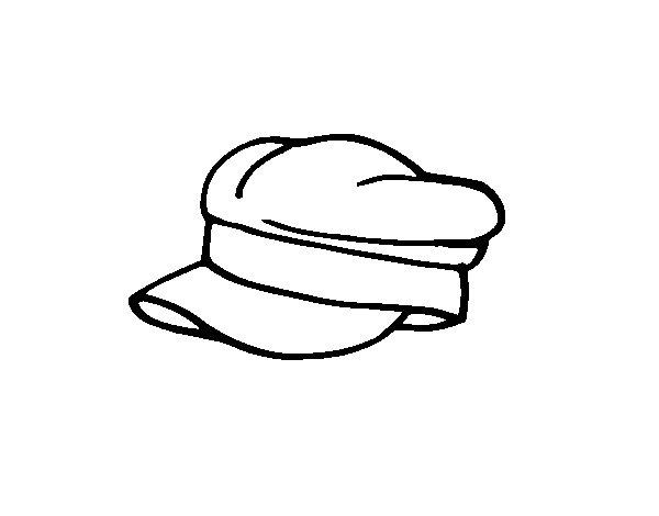 Disegno di Cappello militare da Colorare